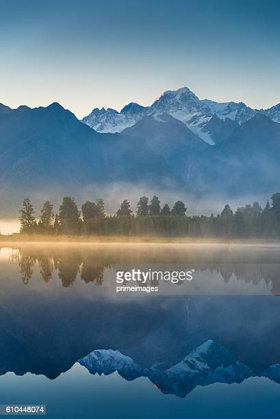 Mount Cook in Lake Matheson New Zealand