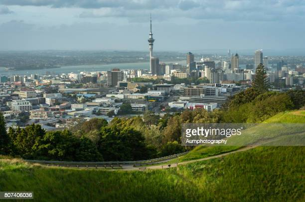 Mount eden and Auckland city, New Zealand.
