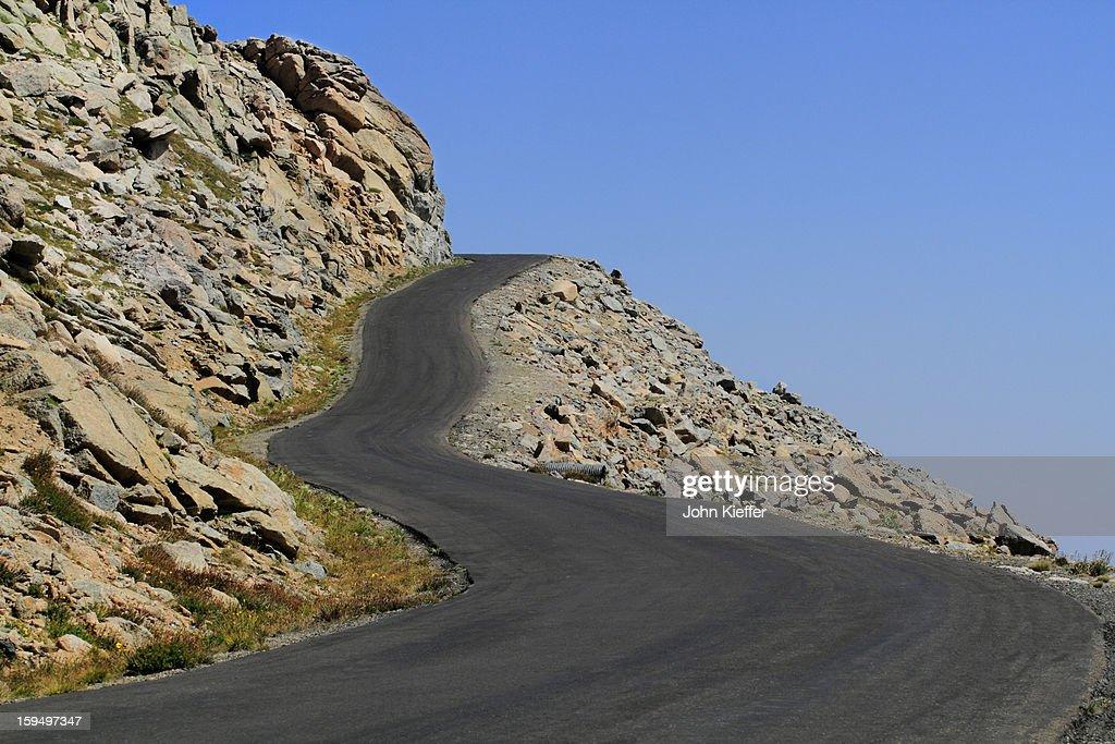 Mount Evans road, Idaho Springs, Colorado : Stock Photo
