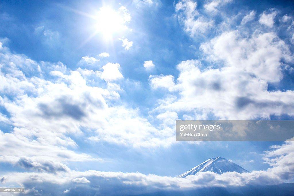 Mount Fuji and Blue Sky