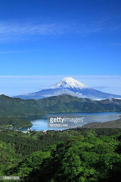 Mount Fuji and mountainscape