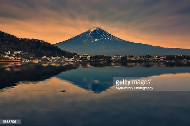 Mount Fuji and reflection