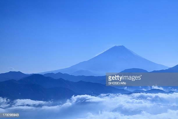 Mount Fuji and sea of clouds