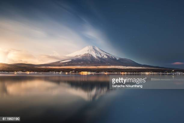 Mount fuji at Lake Yamanaka,Sunrise