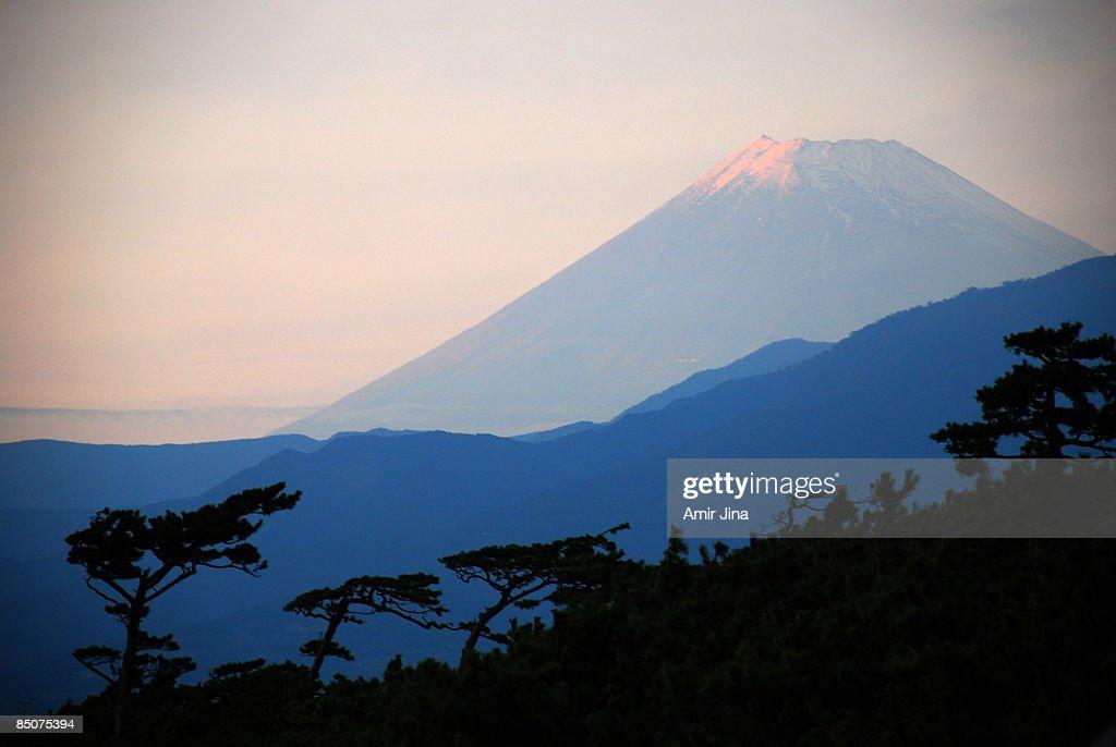 Mount Fuji at Sunset : Stock Photo