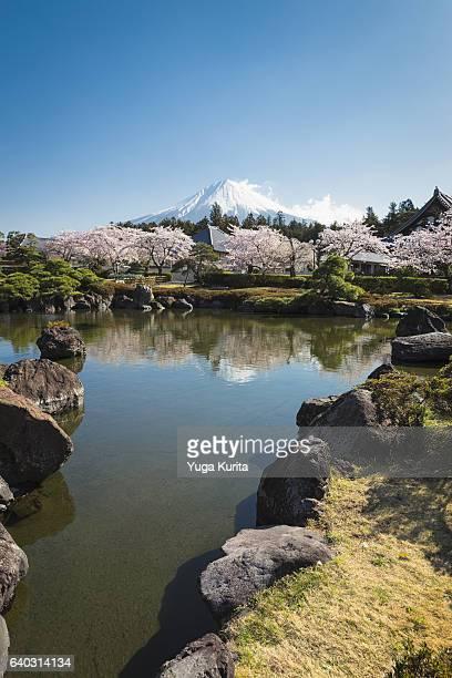 Mount Fuji from Taiseki-ji Temple in Fujinomiya