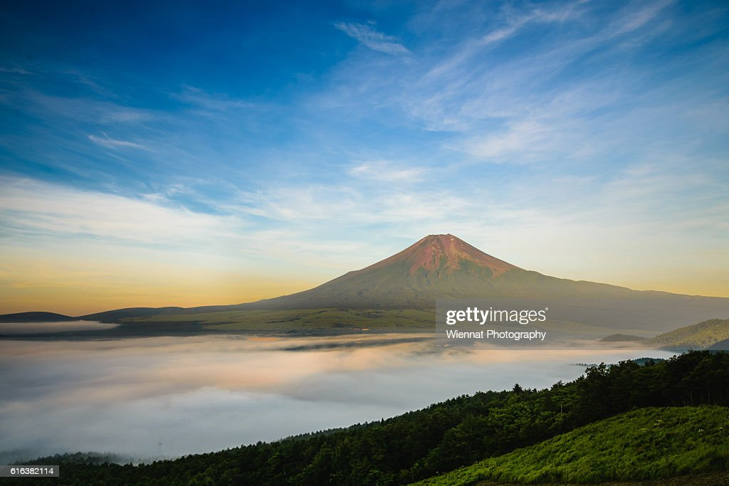 Mount Fuji in Summer : Stock Photo