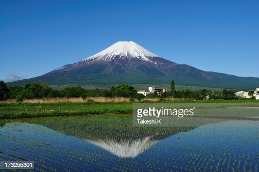 Mount Fuji of early summer