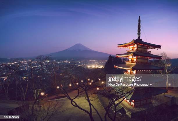 Mount Fuji View at sunset
