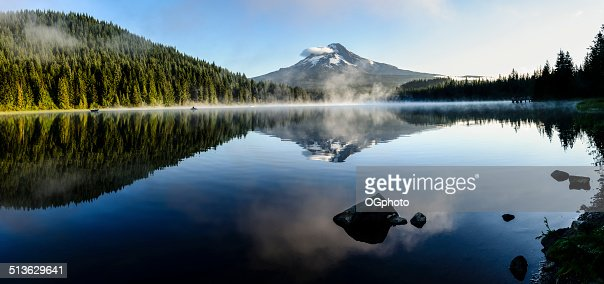 Mount Hood reflected at Trillium Lake, Oregon -XXXL : Stock Photo