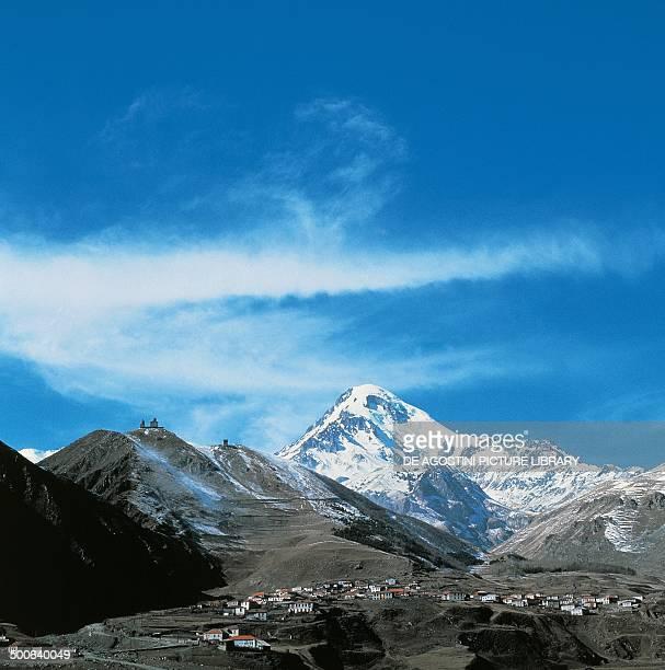 Mount Kazbek 5047 m Caucasus Mountains Georgia