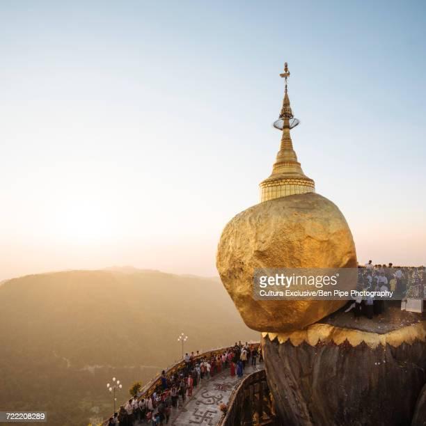 Mount Kyaiktiyo at sunset, Mon State, Myanmar