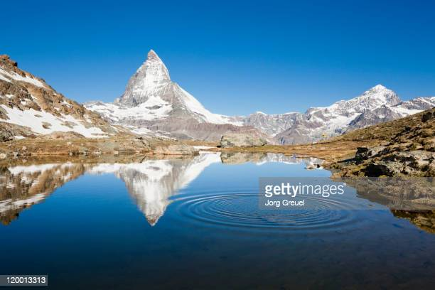 Mount Matterhorn, ripples on a mountain lake