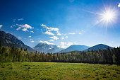 Mount Robson in the morning sun, British Columbia, Canada