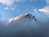 Mount Robson peak in British Columbia, Canada