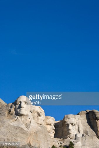 Mount Rushmore National Monument with Blue Sky, South Dakota, USA