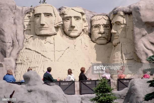 Mount Rushmore Replica Made of Legos