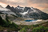 Mount shuksan at sunrise, North Cascades National Park, Washington, USA