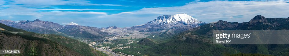 Mount St Helens Summit Panoramic 35 Years after Volcanic Eruption