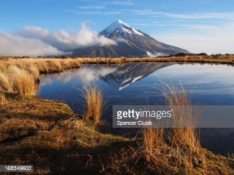 Mount Taranaki from the Pouakai Tarns