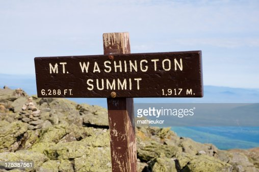 'Mount Washington (NH, Usa)'