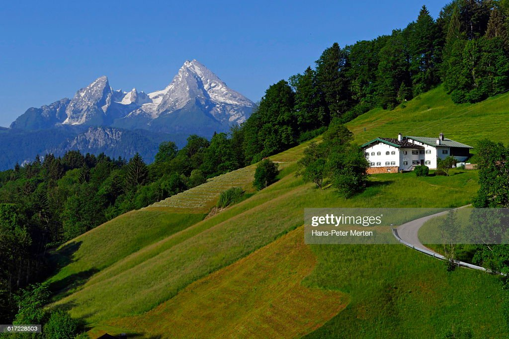 Mount Watzmann near Berchtesgaden, Bavaria : Stock Photo