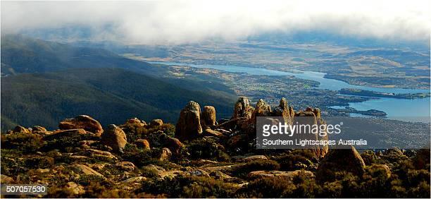 Mount Wellington, Hobart, the island state, Tasmania, Australia