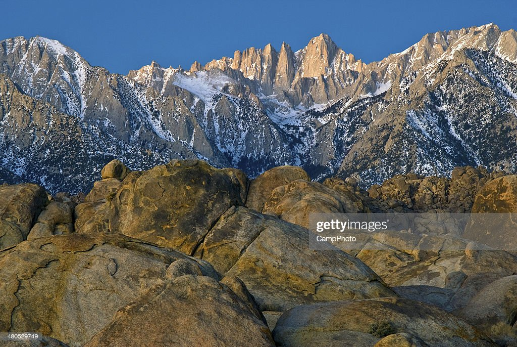 Berg Mount Whitney in am frühen Morgen : Stock-Foto