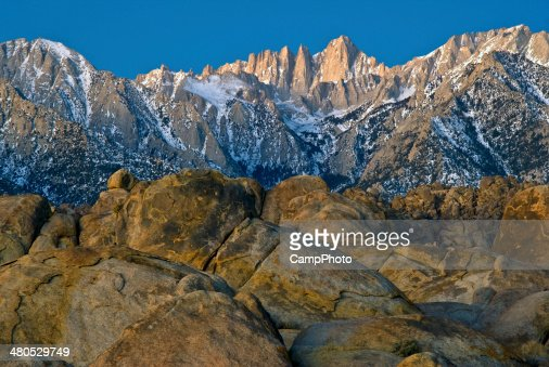 Mount Whitney in Early Morning : Stock Photo