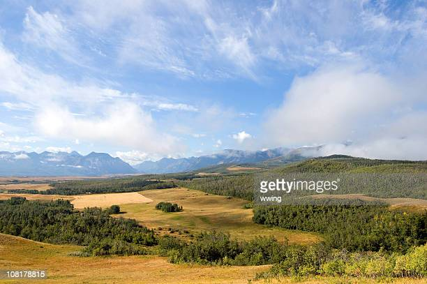 Mountain and Rangeland Panoramic in Alberta foothills