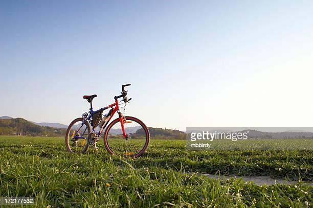 Mountain bike im malerischen schießen