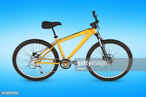 mountain bike isolated on blue gradient background 3d render : Foto de stock