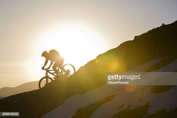 Mountainbike-Sonnenuntergang