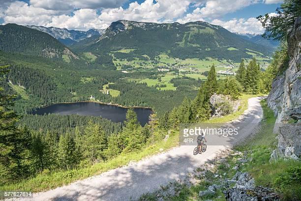 Mountain Bike Trail, Lake Ödensee, Austrian Alps Panorama