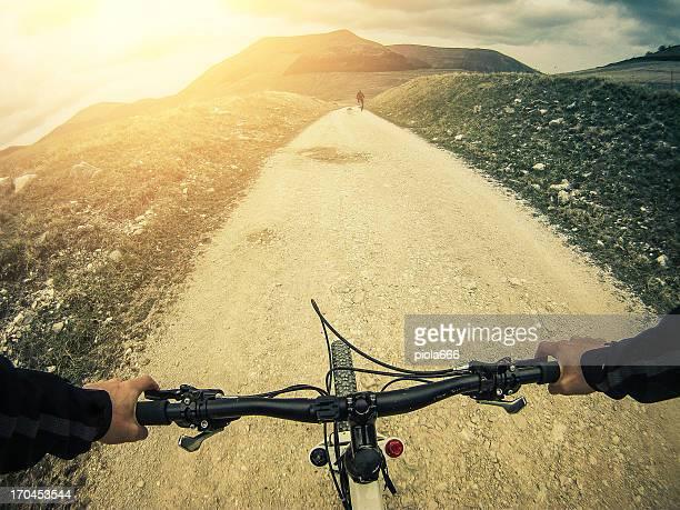 Mountainbike: White Road im Freien