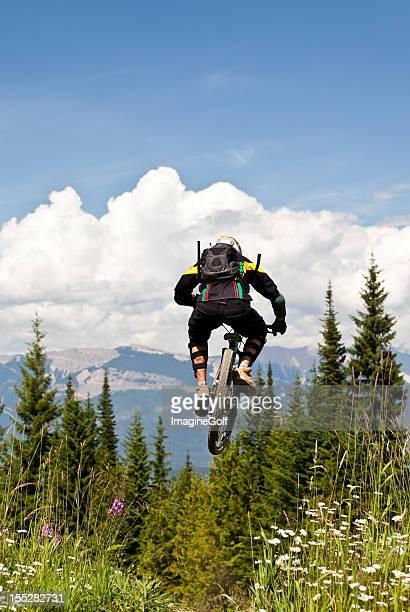 Mountain Biker in the Air
