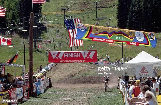 Mountain Biker in World Championship Race, 1990