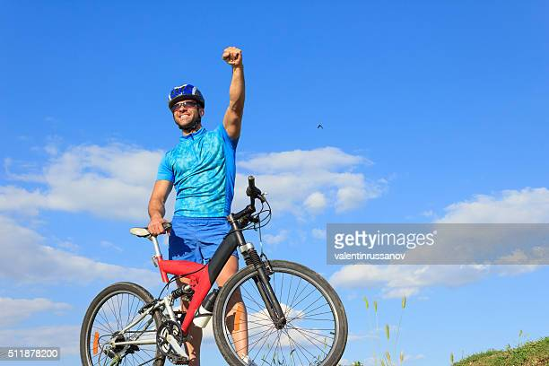 Mountainbiker auf top-Nahaufnahme