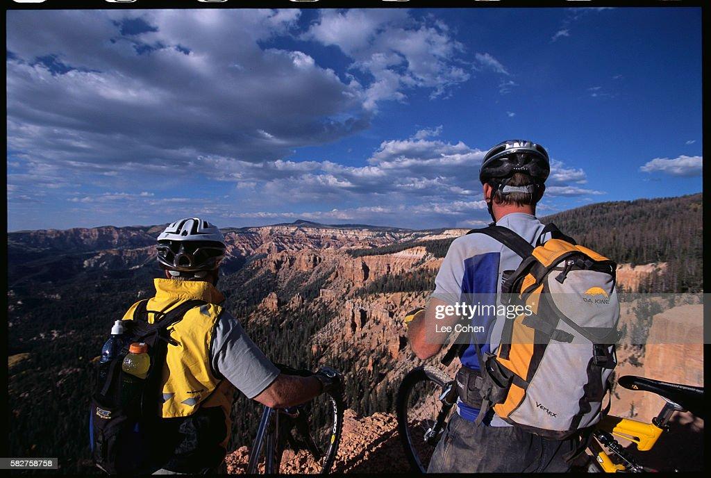 Mountain Bikers Overlooking Cedar Breaks National Monument