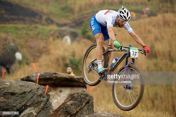 2016 Summer Olympics Italy Andrea Tiberi in action during the Men's CrossCountry Final at the Mountain Bike Centre Rio de Janeiro Brazil 8/21/2016...