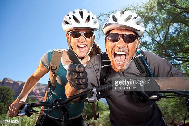Mountain Biking Couple