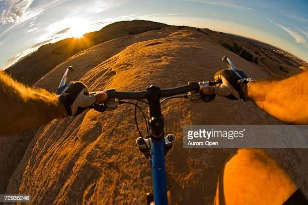 Mountain biking in Moab, Utah.