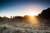 mountain biking sunshine landscape