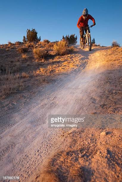 mountain biking trail rider