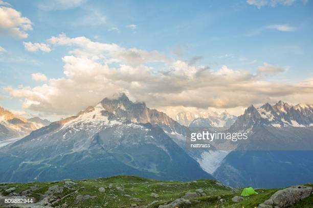 Berg kamperen in Europa
