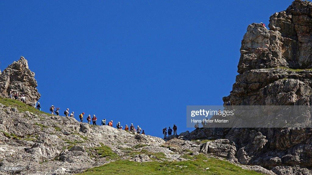 mountain climber at Hindelanger Klettersteig
