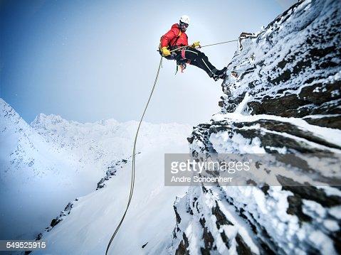 Mountain Climber in the Austrian Alps