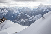 Mountain climbers on Mont Blanc