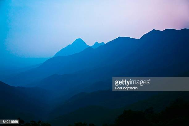 Mountain covered with fog, Shaolin Monastery, Henan Province, China