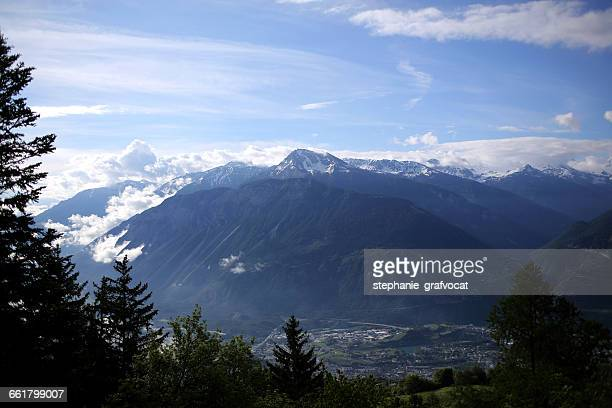 'Mountain, Crans-Montana, Switzerland'